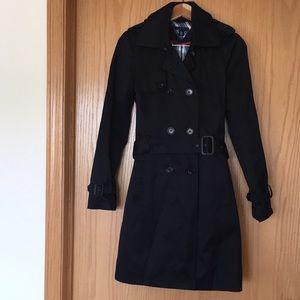 Tommy Hilfiger lightweight black trench coat